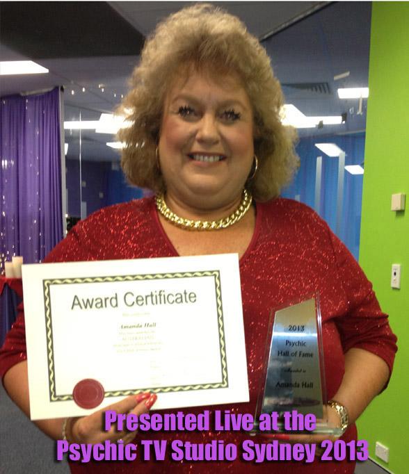 Amanda Hall Psychic Hall Of Fame 2013