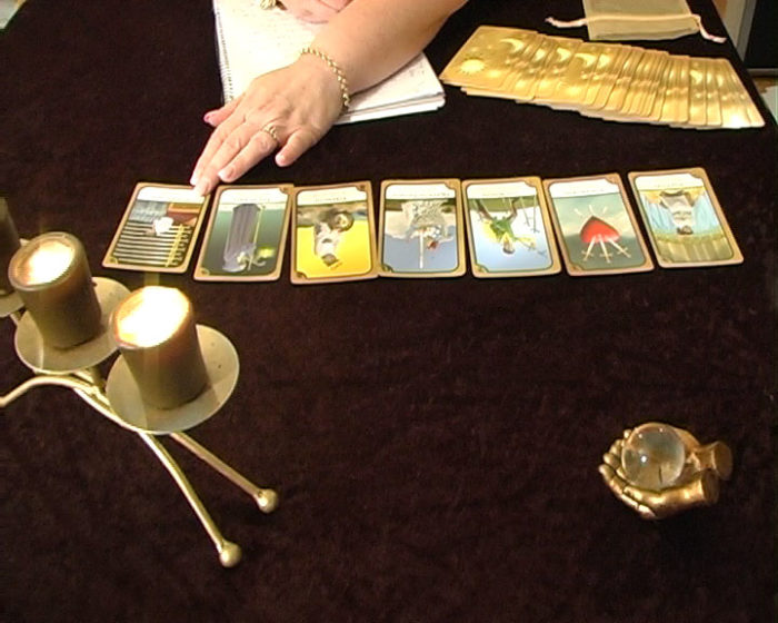 Tarot-cards-candes-journal-pen