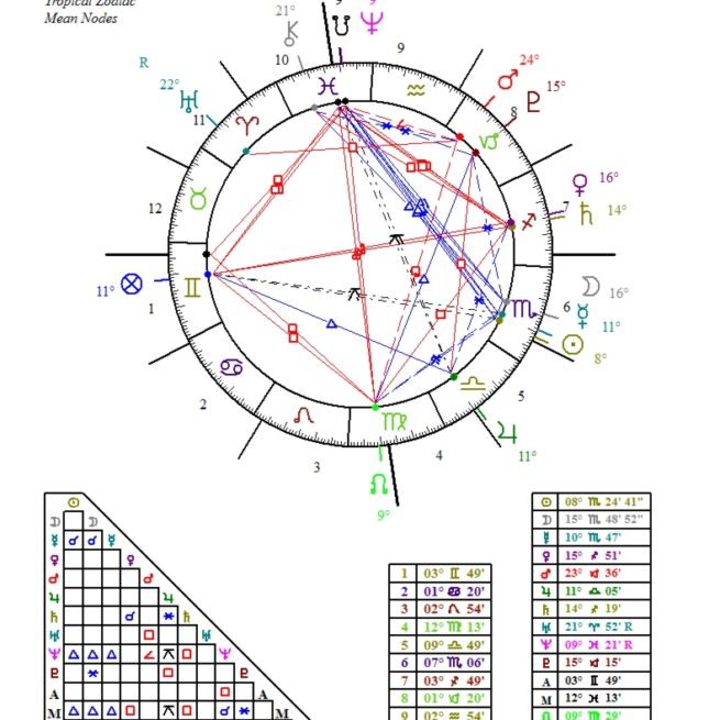 Astrology Natal Chart Personality Profile E Chart Blue Print Of