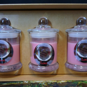 Love gift box set candles