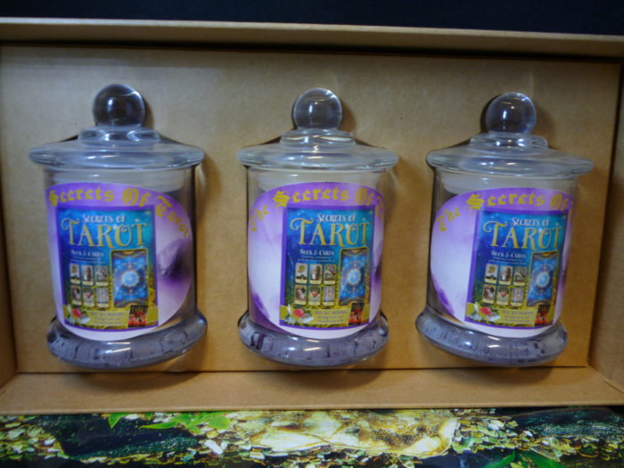 Secrets of Tarot gift box set candles info