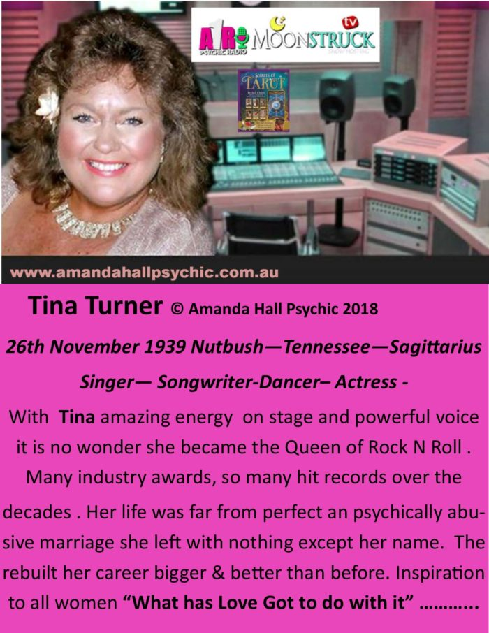 Tina Turner female Sagittarius