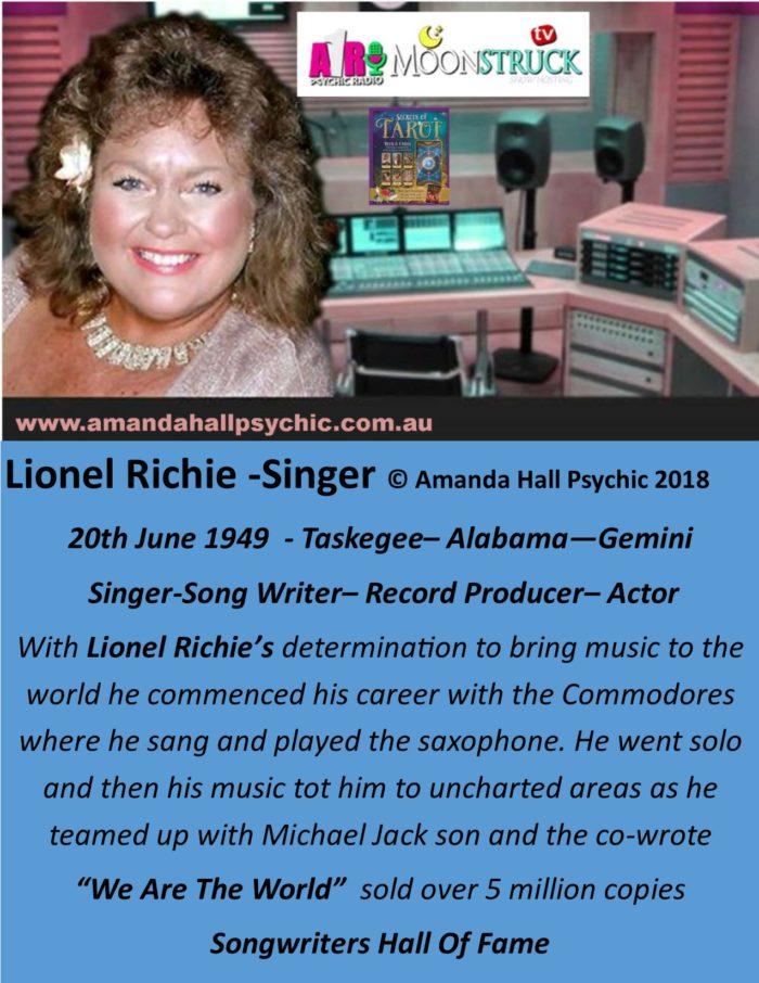 Lionel Ritchie Gemini male