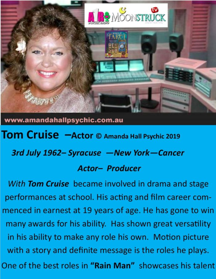 Tom Cruise Cancer Male Actor