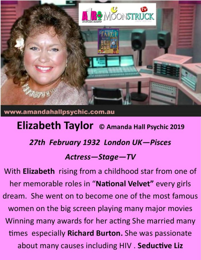 Liz Taylor female actress Pisces