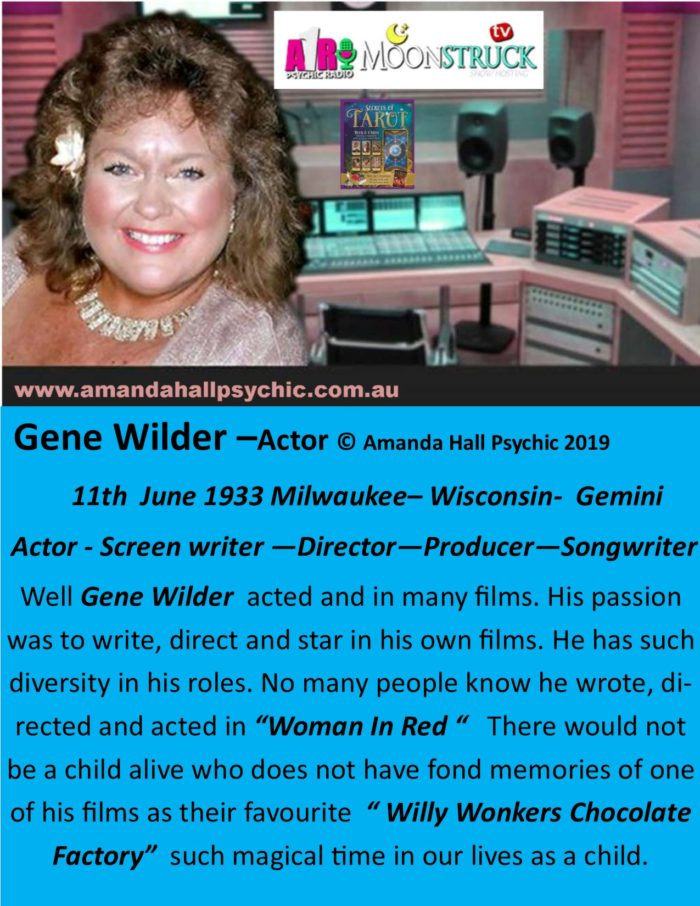 Gene Wilder - actor - Gemini